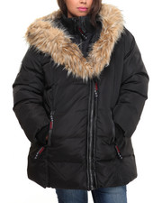Heavy Coats - Turtleneck 2 Way Zipper Bubble Jacket (Plus)