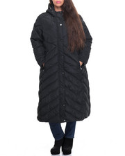 Heavy Coats - Maxi Hooded Heavy Coat (Plus)
