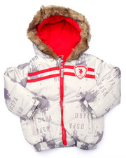 Outerwear - ALLOVER PRINT PUFFER JACKET (2T-4T)