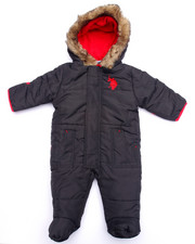 Snowsuits - FAUX FUR TRIM PUFFER PRAM (NEWBORN)