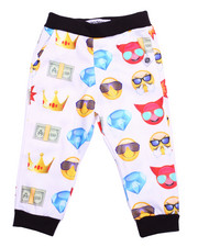 Bottoms - EMOJI ALLOVER PRINT JOGGER (2T-4T)