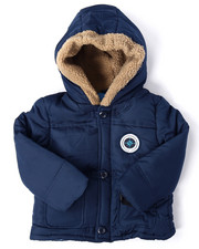 Boys - FAUX FUR TRIM PUFFER JACKET (2T-4T)