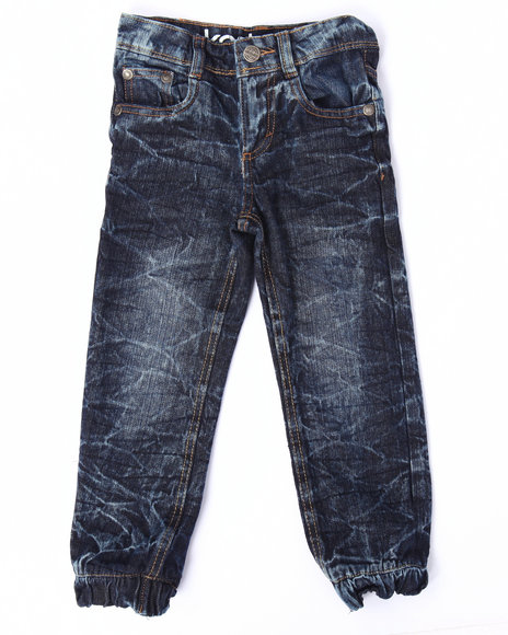 Akademiks - Boys Medium Wash Acid Crinkle Wash Jeans (4-7)