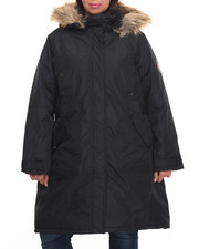 "Women - Nylon 36"" Cold Weather Heavy Parka (Plus size) w/Arm Patch (plus)"