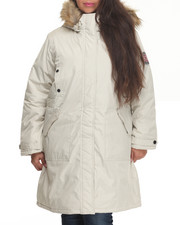 "Women - Nylon 36"" Cold Weather Heavy Parka (Plus) w/Arm Patch"