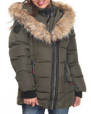 Heavy Coats - Turtleneck 2 Way Zipper Bubble Jacket