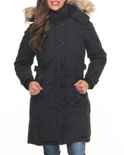 Women - Hooded 2 Way Zipper Parka