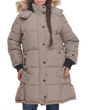 Women - Hooded  Storm Cuff Parka