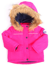 Girls - PARKA W/ FAUX FUR TRIM (INFANT)