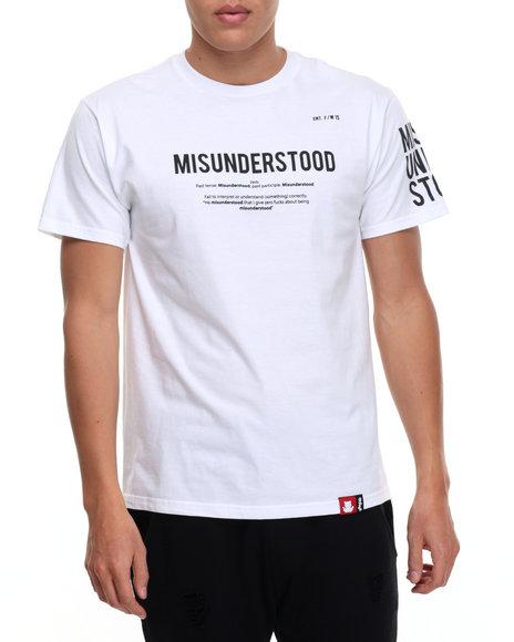 Entree - Men White Define T-Shirt