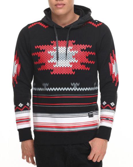 Trukfit - Men Black Aztec Pullover Hoodie