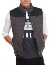 Vests - Marley Two - Tone Embroidered Quilted Vest