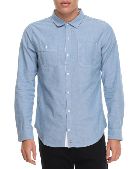 Buyers Picks - Men Light Blue Marley Chambray L/S Button - Down