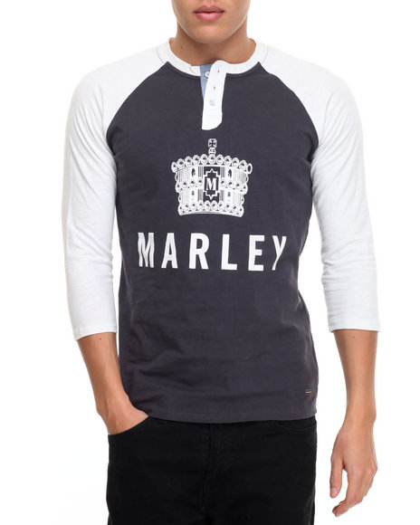 Buyers Picks - Men Charcoal,Off White Marley Crown Signature S/S Tee
