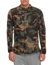 Men - Flannel Camo Button Jacket