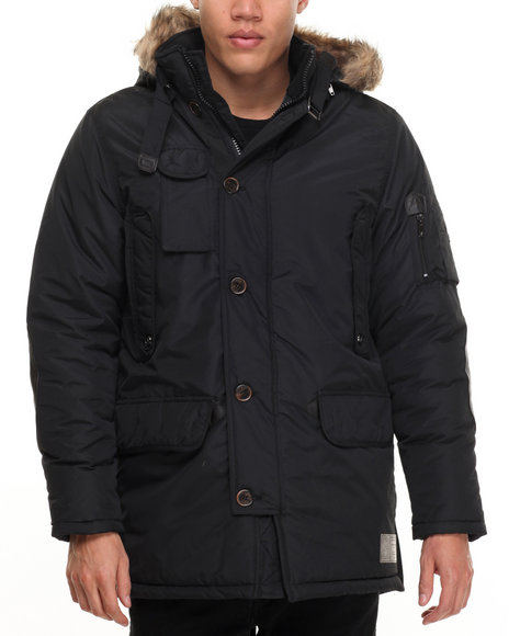 Rocawear - Men Black Nylon Parka