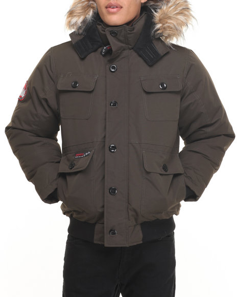 Buyers Picks - Men Olive Heavy Weight Bomber Hooded Jacket
