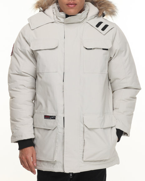 Buyers Picks - Men Off White Heavy Weight Snorkel Parka Hooded Jacket