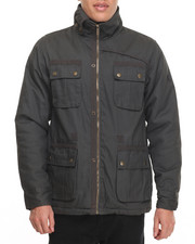Light Jackets - Double Collar Waxed Twill Jacket