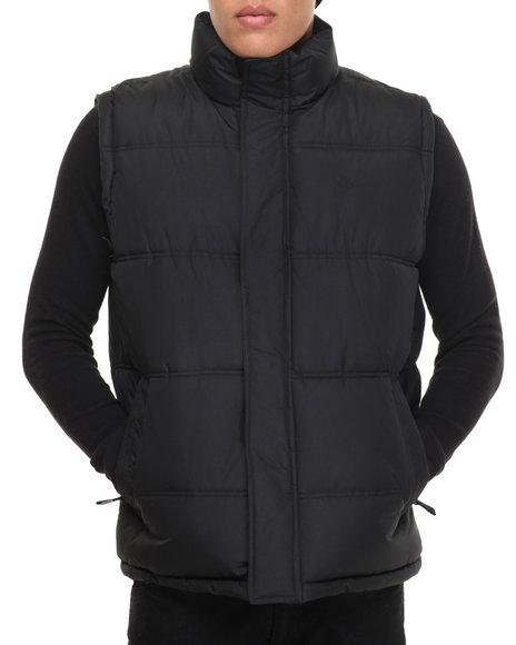 Buyers Picks - Men Black Teflon Brand Heavy - Fabric Vest W/ Plaid Lining