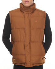 Outerwear - Teflon Brand Heavy - Fabric Vest W/ Plaid Lining