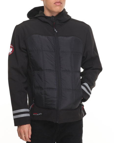 Buyers Picks - Men Black Canada Weathergear Insulated Softshell Jacket