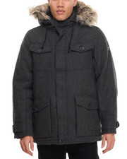 Outerwear - Wool Herringbone Parka Jacket