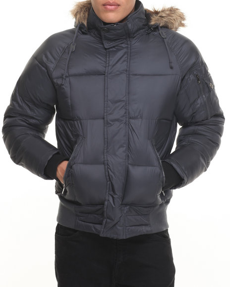 Buyers Picks - Men Black Heavy Weight Bomber Hooded Jacket