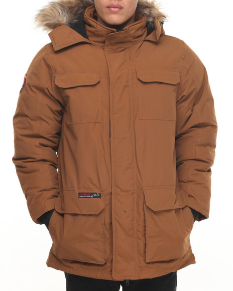 Buyers Picks - Men Brown Heavy Weight Snorkel Parka Hooded Jacket