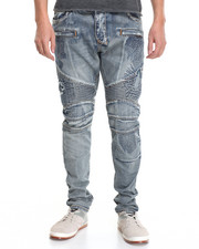 Jeans & Pants - Monster Destructed & Repaired Moto Denim Jeans