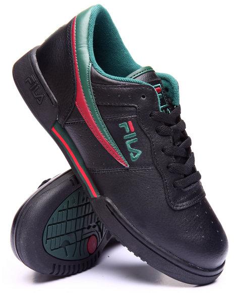 Fila - Men Black Original Fitness Black Italia Sneaker - $62.99