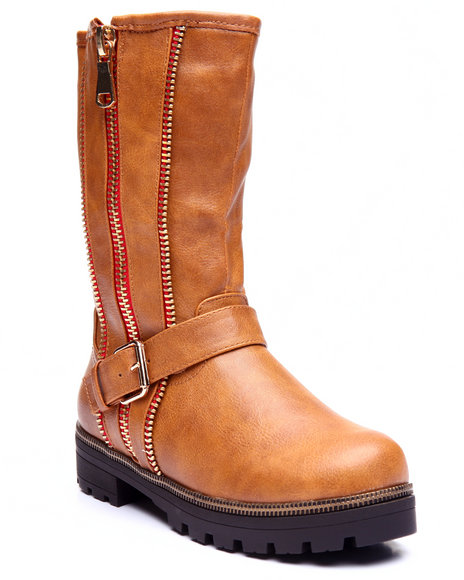 Fashion Lab - Women Brown Isabel Zip Up Boot