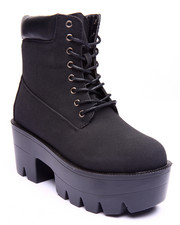 Fashion Lab - Emma Platform Lace Up Boot