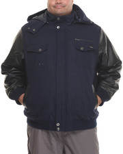 Big & Tall - Bomber Jacket w/ Detachable Hood (B&T)
