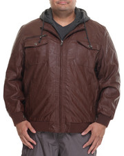 Big & Tall - P U Jacket w/ Hood (B&T)