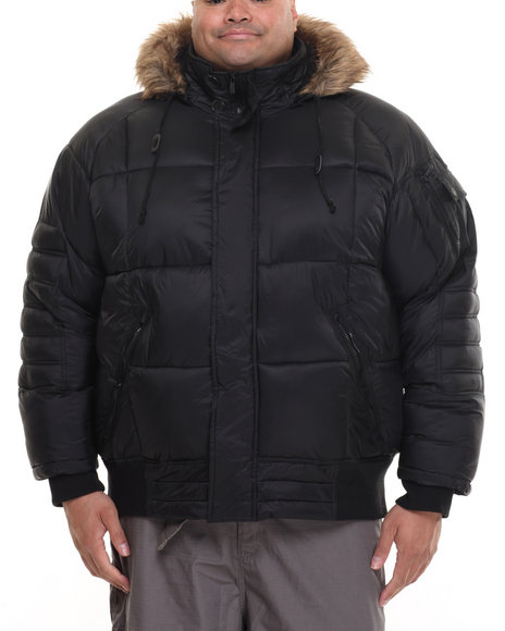 Rocawear - Men Black Bubble Jacket W/ Hood (B&T)