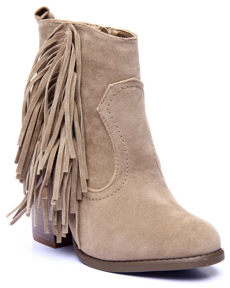 Fashion Lab - Women Brown Joseph Fringe Detail Heel Boot