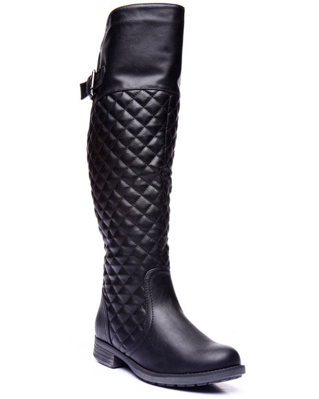 Fashion Lab - Women Black Emilio Quilted Boot
