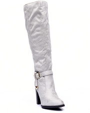 Fashion Lab - Jacob Below The Knee Ankle Buckle Boot