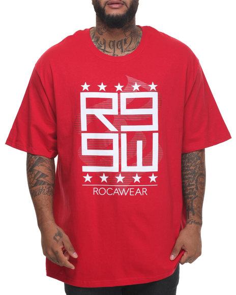 Rocawear - Men Red Laser Cut Tee (B&T) - $32.50