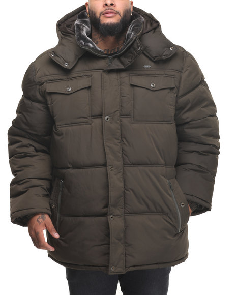 Buyers Picks - Men Olive Bubble Jacket W/ Hood (B&T)