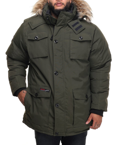Buyers Picks - Men Olive Heavy Weight Vestee Parka Layered Jacket (B&T)