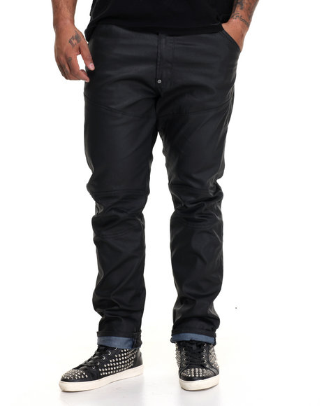 American Natives - Men Black Db9 Moto - Style Denim Jeans
