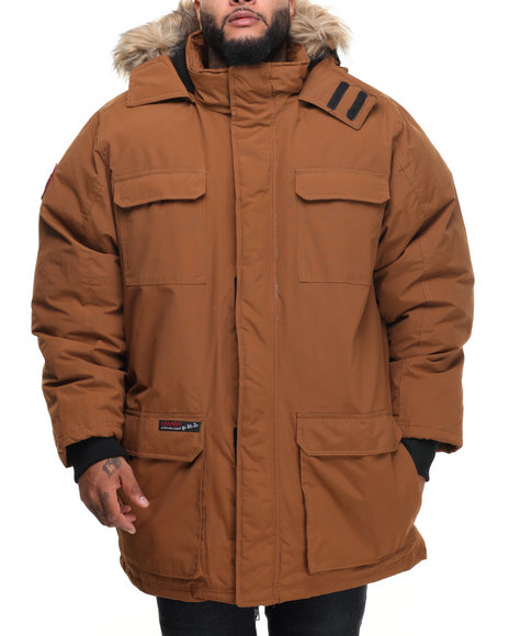 Buyers Picks - Men Tan Heavy Weight Snorkel Parka Hooded Jacket (B&T)