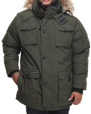 Outerwear - Heavy Weight Vestee Parka Layered Jacket (B&T)