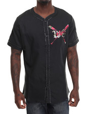 Button-downs - W E 88 Rises Baseball Jersey