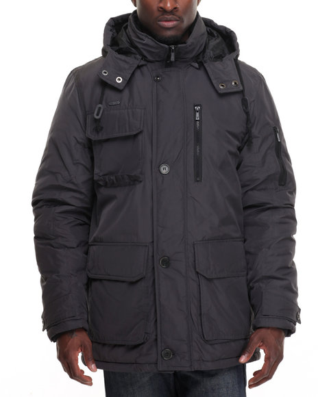 Rocawear - Men Grey Nylon Parka W/ Hood