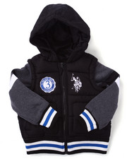Boys - BUBBLE VARSITY JACKET (4-7)