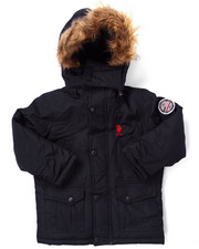 Outerwear - PARKA W/ FAUX FUR TRIM (4-7)
