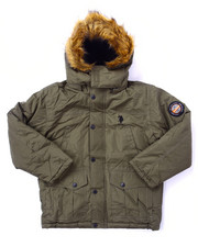 Heavy Coats - PARKA W/ FAUX FUR TRIM (8-20)